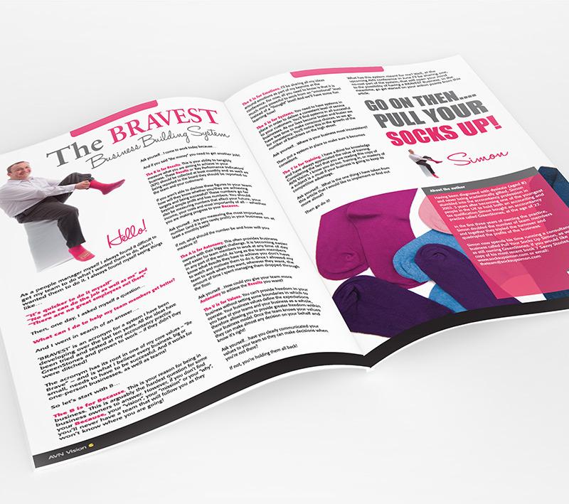 volta creative avn pull your socks up brochure