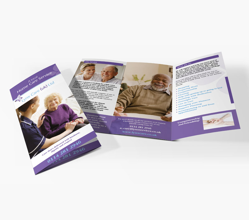 volta creative lynx care folded leaflet