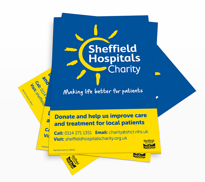 volta creative sheffield hospitals charity poster