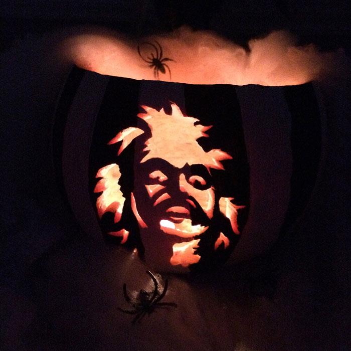 Perfect Pumpkin Carving - Beetlejuice - Volta Creative