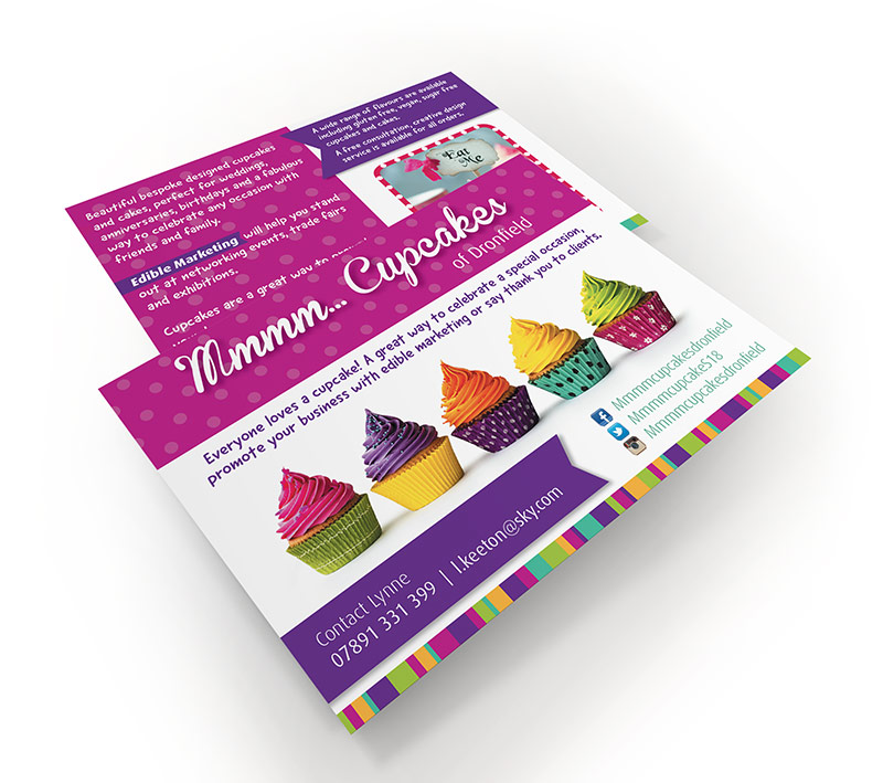 volta creative mmm cupcakes postcard