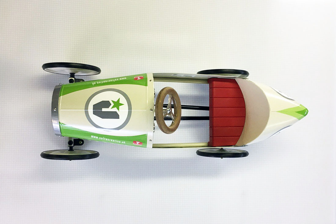 volta creative race car