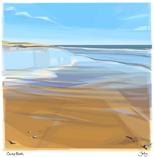 JRay on the beach