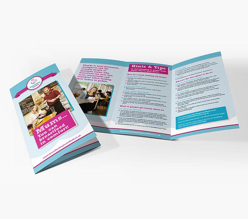 volta creative breastfeeding in sheffield folded leaflet