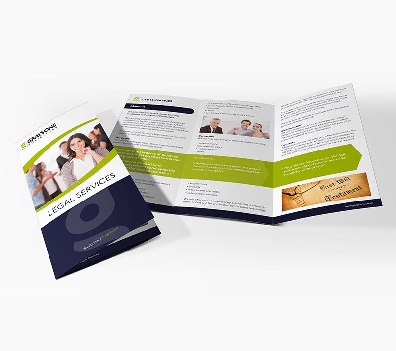 volta creative graysons folded leaflet