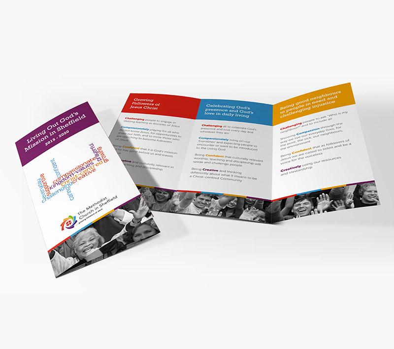 volta creative methodist church folded leaflet