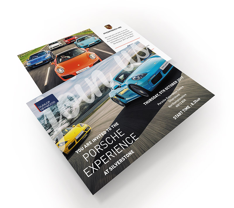 Dunlop Heywood Porsche Postcard - Volta Creative