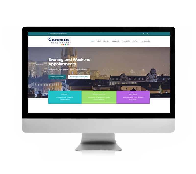 Conexus Healthcare Website - Volta Creative Sheffield
