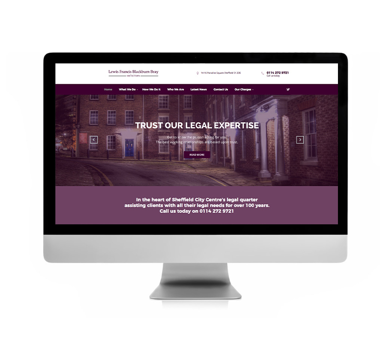 LFBB Solicitors Website - Volta Creative Sheffield