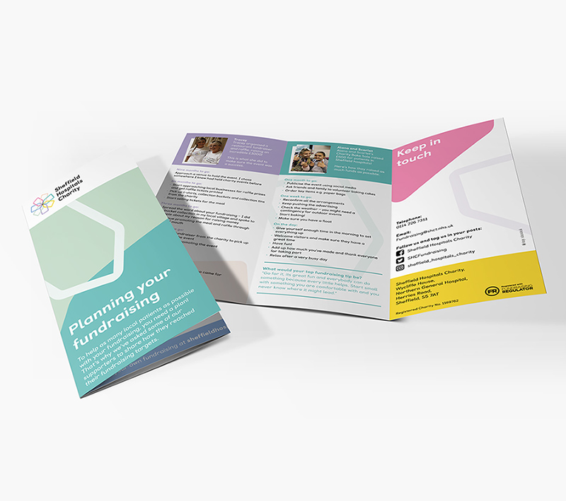 Sheffield Hospitals Charity Folded Leaflet - Volta Creative