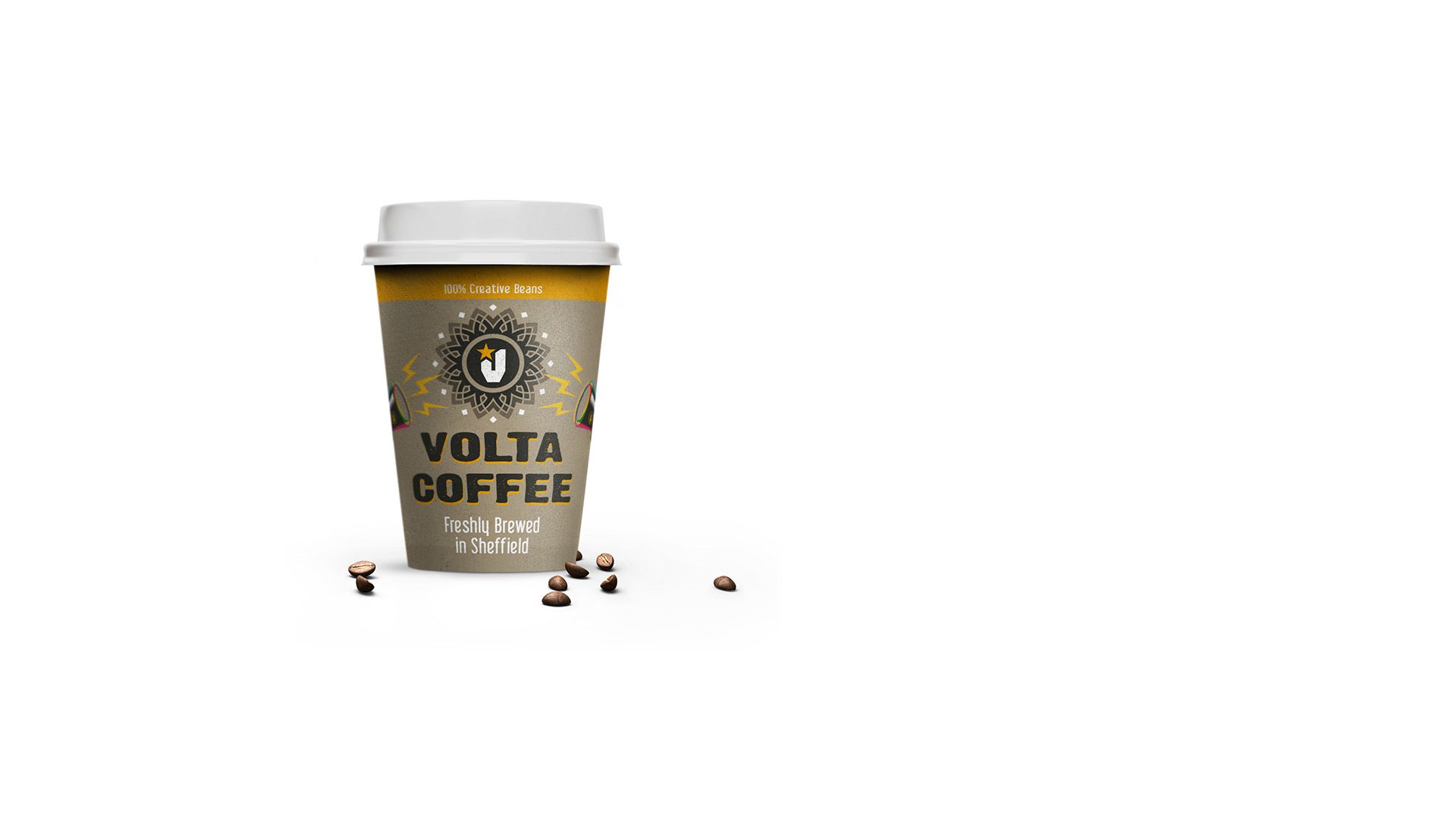 volta creative coffee cup panel