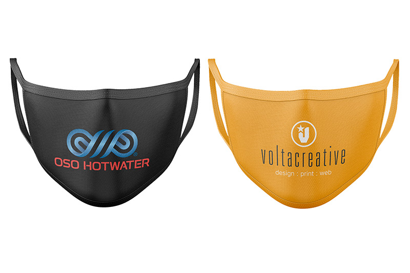 branded face masks volta creative